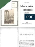 Anatole France - Sobre La Piedra Inmaculada