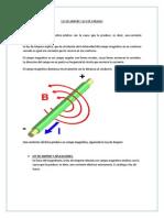 Ley de Ampere y Ley de Faraday
