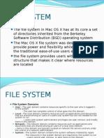 FILE SYSTEM MAC OS X