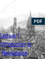Lecture 1 Introduction Renaissance in Italy F09