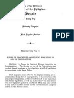 Blue Ribbon Committee Procedure