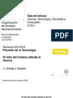 Un03_Ortega y Gasset_El Mito Del Hombre Allende La Tecnica