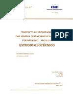 Estudio Geotecnico Proyecto Explotacion