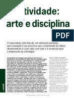 Criatividade, Arte e Disciplina