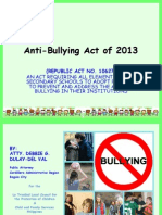 Powerpoint Anti-Bullying Act in the Philippines