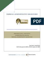 Informe de Logros- Primer Semestre 2011-2012-Tribunal Administrativo Migratorio