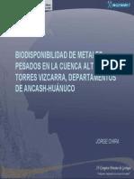 Biodisponibilidaddemetalespesadosenlacuencaaltadelrotorres Vizcarradepartamentosdeancash Hunuco 120417103913 Phpapp02