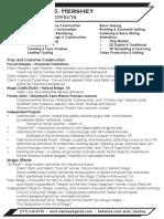 ErickHershey CV/Resume