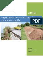 Importancia de La Construcción de Un Buen Terraplén