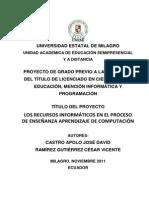 Tesis - Los Recursos Informaticos Eac