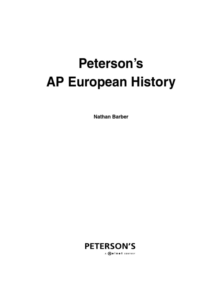 Petersons AP European Guide Multiple Choice