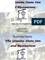 Granite Inn Business Plan Presentation