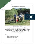 Hidrogeologia Villa Abecia Las Carreras