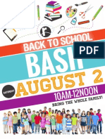 Back to School Bash Cards 2014