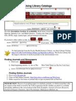 Instruction Library Catalog