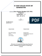 Complete Project Report on Solid State Rf Generator