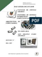 Memoria Internas, RAM, ROM, CACHE - Suarez J. Alex