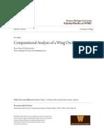 Computational Analysis of a Wing Oscillator