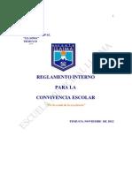 Reglamento Interno Para La Convivencia Escolar 2013