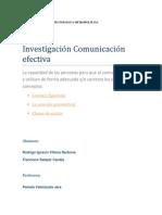 Investigación Comunicación efectiva