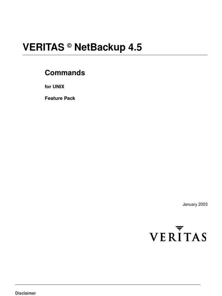 Netbackup Unix Commands Command Line Interface Filename