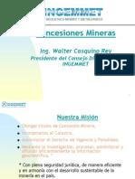 CONCESIONES MINERAS CASQUINO
