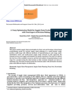 A Fuzzy Optimization Model for Supply Chain Production Planning With Total Aspect of Decision Making
