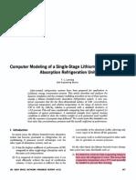 F.L.lansing_Computer Modeling of LiBr_VAR System