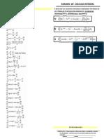 Examenes de Cálculo Integral Todas Las Unidades