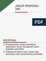 Unsur-unsur Proposal Penelitian (Pertemuan 2)