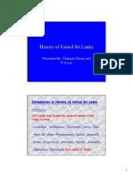 History of United Sri Lanka