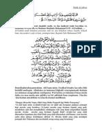 Ratib Al Aydrus Arab & Indonesia