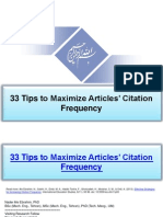 33 Tips to Maximize Articles' Citation Frequency