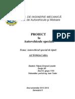 Proiect Autov.speciale AutoMacara