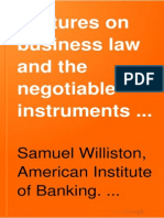 Lectures on Business Law and Instruments