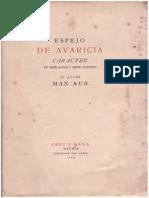 Aub, Max - Espejo de Avaricia