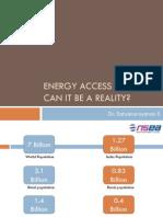Energy Access - Current status