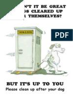 Dog Toilet Post Card