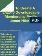 How to Create a VA2013 Downloadale Membership Profile PDF 2014 by JomarHilario