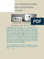 LISA III PORTABLE HEADPHONE AMPLIFIRE operating manual