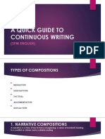 A Quick Guide to Continuous Writing