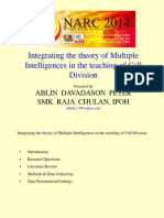 Integrating the theory of Multiple Intelligences in the teaching of Cell Division