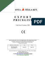 2010 ANGOL Export Ár