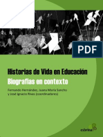 Historias de Vida en Educación. Biografias en Contexto (1)