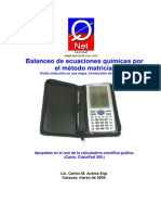 Balanceo Ecua Calc Matriz Cp300 I