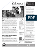 Creative Access Prayer Sheet