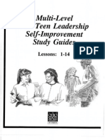 Multilevel Teen Leadership Project Study Guides in PDF