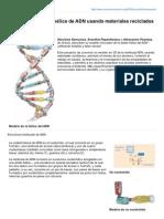 Scienceinschool.org-Modelando La Doble Hlice de ADN Usando Materiales Reciclados