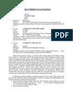 Surat Pernyataan Damai