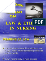 Ppt of Law & Ethics Seminar